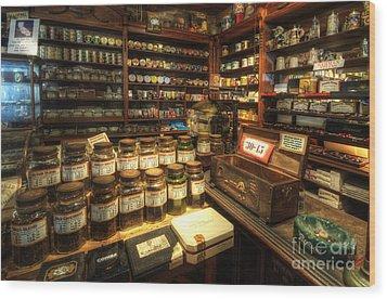 Tobacco Jars Wood Print