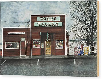 Toby's Wood Print by Perry Woodfin