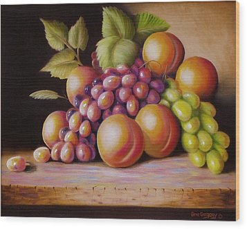 Wood Print featuring the painting Todays Harvest by Gene Gregory