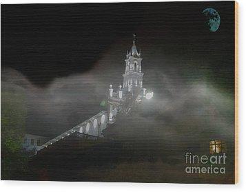 Todos Santos In The Fog Wood Print by Al Bourassa