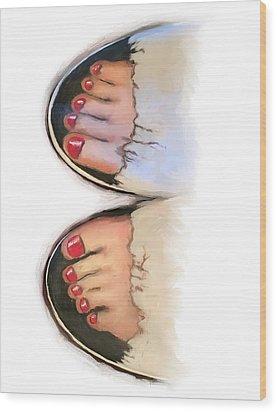 Toes 01 Wood Print