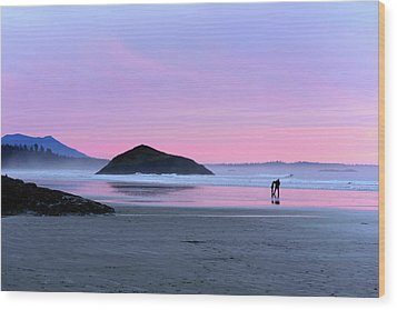 Tofino Sunset Wood Print by Keith Boone