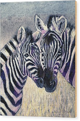 Together Wood Print by Arline Wagner