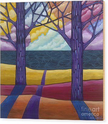 Together Forever Wood Print by Carla Bank