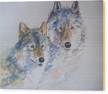 Togetherness Wood Print by Susan Ryder