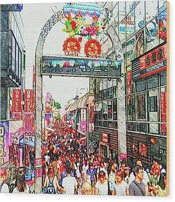 Harajuku Wood Print by Daisuke Kondo