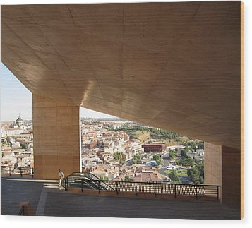 Toledo Architecture Wood Print by John Shiron