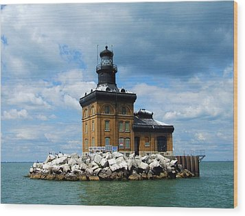 Wood Print featuring the photograph Toledo Harbor Lighthouse by Michiale Schneider