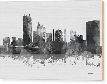 Toledo Ohio Skyline Wood Print by Marlene Watson