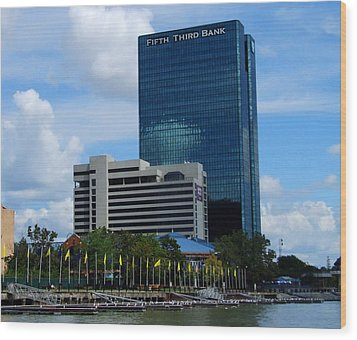 Wood Print featuring the photograph Toledo's Waterfront I by Michiale Schneider