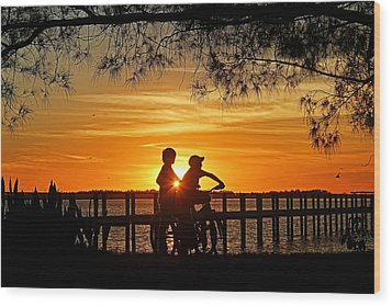 Wood Print featuring the photograph Tom And Huck by HH Photography of Florida