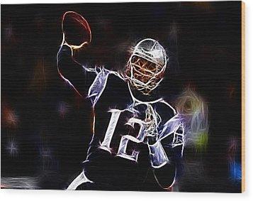 Tom Brady - New England Patriots Wood Print by Paul Ward