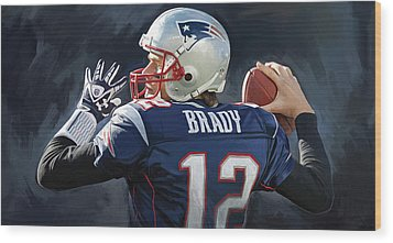 Tom Brady Artwork Wood Print by Sheraz A