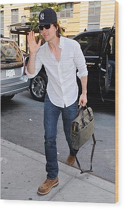 Tom Cruise Carrying A Filson Bag Wood Print by Everett
