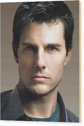 Tom Cruise Wood Print by Dominique Amendola