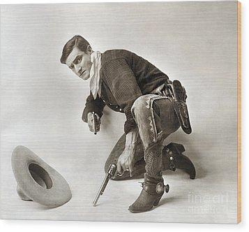 Tom Mix (1880-1944) Wood Print by Granger