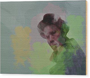 Tom Waits Wood Print by Naxart Studio