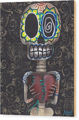 Toma Mi Corazon Wood Print by  Abril Andrade Griffith