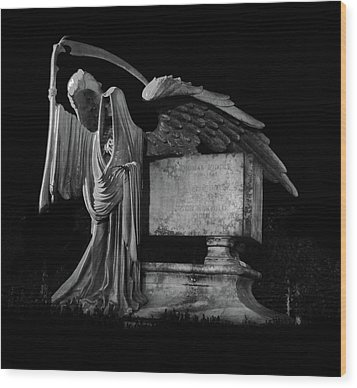 Wood Print featuring the mixed media Tomas Riddle Tomb Harry Potter by Gina Dsgn