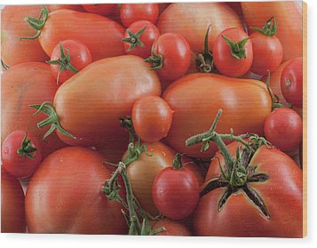 Wood Print featuring the photograph Tomato Mix by James BO Insogna