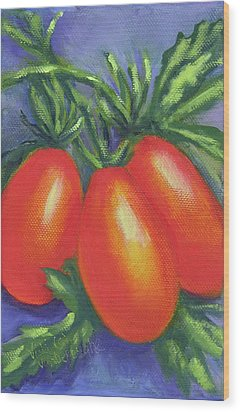Tomato Seed Packet Wood Print