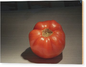 Tomato Still Life Wood Print by Bryan Knox