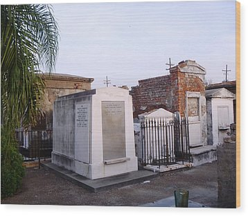 Tombs In St. Louis Cemetery Wood Print by Alys Caviness-Gober