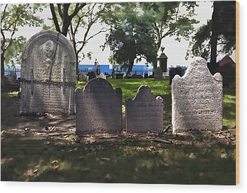 Tombstones Wood Print by Kelley King