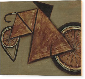 Wood Print featuring the painting Tommervik Art Bicycle Bike Art Print by Tommervik