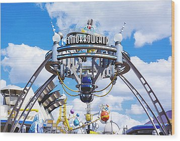 Tomorrowland Wood Print by Greg Fortier