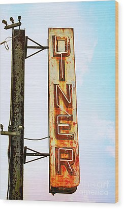 Tom's Diner Wood Print