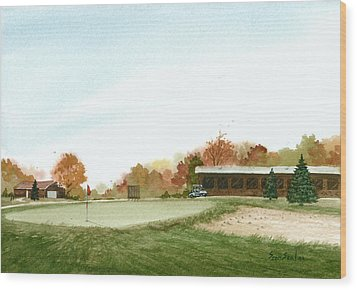 Tom's  Golf Course Wood Print