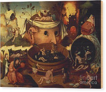 Tondals Vision Wood Print by Hieronymus Bosch