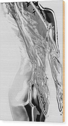 Tones Of Grey Wood Print by Naman Imagery