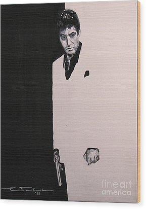 Tony Montana - Scarface Wood Print