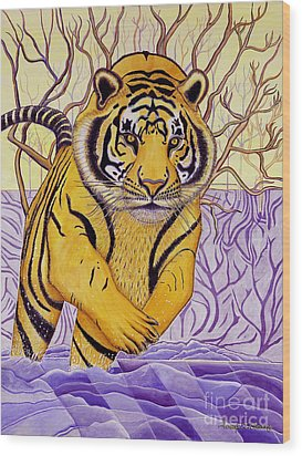 Tony Tiger Wood Print by Joseph J Stevens