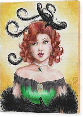 Tonya Wood Print by Scarlett Royal