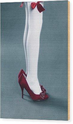 Too Big Shoes Wood Print by Joana Kruse