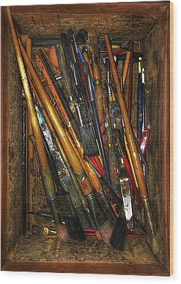 Wood Print featuring the photograph Tools Of The Painter by Jame Hayes