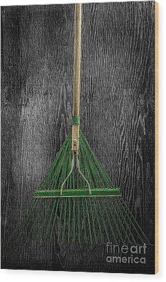 Tools On Wood 10 On Bw Wood Print by YoPedro