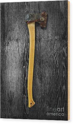 Tools On Wood 11 On Bw Wood Print by YoPedro