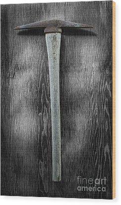 Tools On Wood 13 On Bw Wood Print by YoPedro