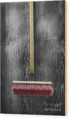 Tools On Wood 14 On Bw Wood Print by YoPedro