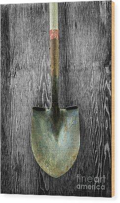 Tools On Wood 15 On Bw Wood Print by YoPedro