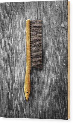 Tools On Wood 52 On Bw Wood Print by YoPedro
