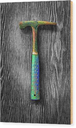 Tools On Wood 63 On Bw Wood Print by YoPedro