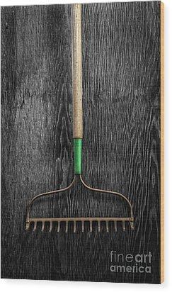 Tools On Wood 9 On Bw Wood Print by YoPedro