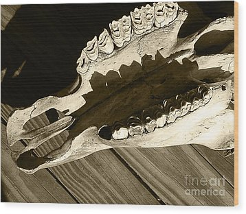 Tooth Decay Wood Print by Laura Brightwood