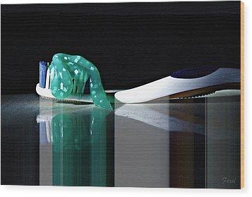 Toothbrush Wood Print