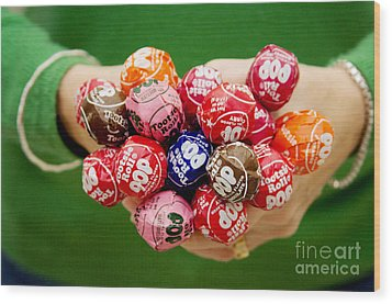 Tootsie Pop  Wood Print by Kim Fearheiley